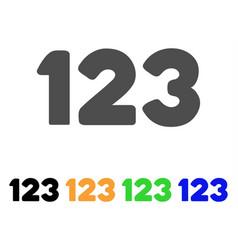 digits icon vector image