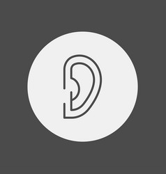 ear icon sign symbol vector image
