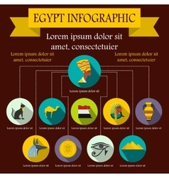 Egypt infographic elements flat style vector image