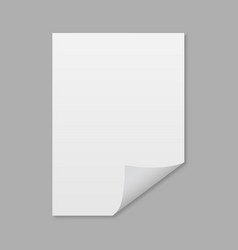 empty sheet of paper with the shadow mockup style vector image
