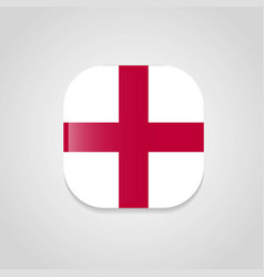 england united kingdom flag design round button vector image