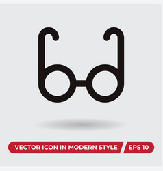 eyeglasses icon in modern style for web site and vector image