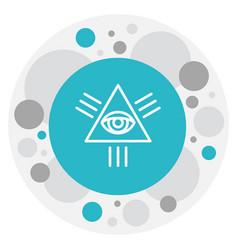 Faith symbol on eye of vector
