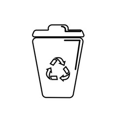 Figure can trash with reuse reduce and recycle vector