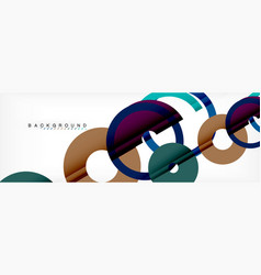geomtric modern backgrounds rings abstract vector image