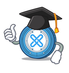 Graduation gxshares coin character cartoon vector
