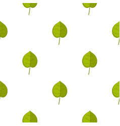Green linden leaf pattern seamless vector