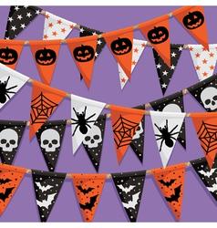 halloween bunting background vector image
