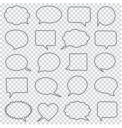 Hand drawn speech bubbles on a transparent vector