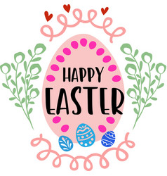 happy easter decoration for card design vector image