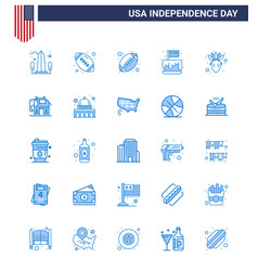 Happy independence day 4th july set 25 blues vector