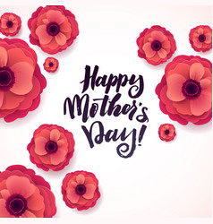 happy mothers day greeting card beautiful vector image