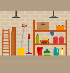 House cellar background flat style vector