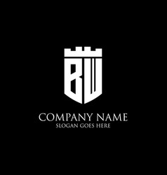 Initial shield logo design inspiration crown vector