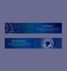 Interfase and technology card vector