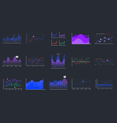 linear graphcharts business graphic charts line vector image