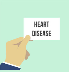 man showing paper heart disease text vector image