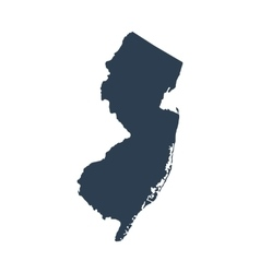 map of the US state New Jersey vector image