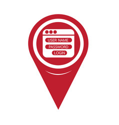 map pin pointer website login form icon vector image
