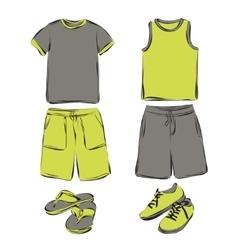 Mens clothes set vector image