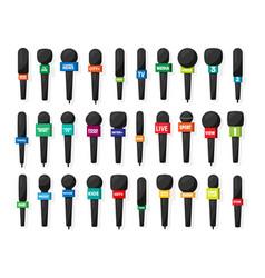 Microphonereporter equipment mass media vector