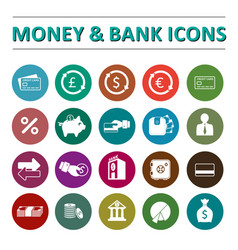 Money bank icons vector