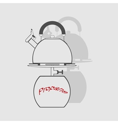 monochrome icon set with propane tank vector image