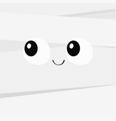Mummy monster square face happy halloween cute vector