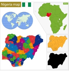 Nigeria map vector image