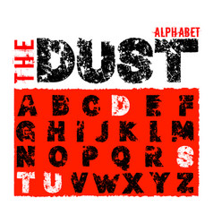 Offroad dust alphabet vector