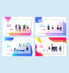 Online global technical support concept web page vector
