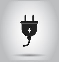 plug socket icon on isolated background business vector image