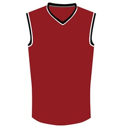 Red basketball jersey vector