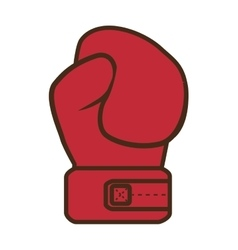 Red glove boxing vector