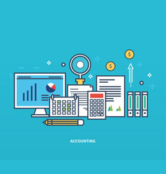 reporting types methods of economic accounting vector image
