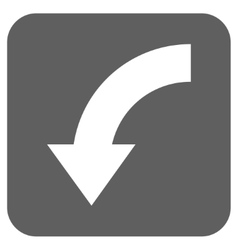 Rotate Down Flat Squared Icon vector