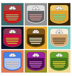 Set of icons in flat design sports scales vector