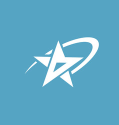 shooting star logo vector image
