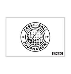 Simple basketball tournament icon basketball vector