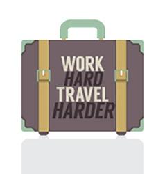 Single Travelling Suitcase Flat Design vector