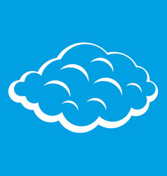 Small cloud icon white vector