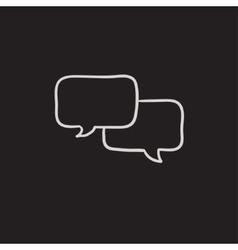 Speech squares sketch icon vector image