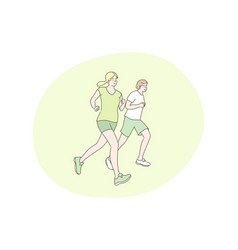 sport jogging workout concept vector image