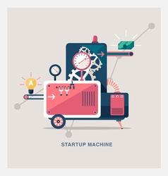 Startup machine vector