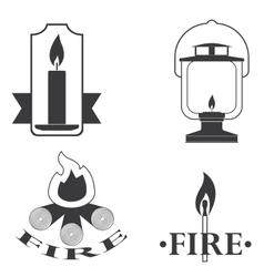 stylish logos depicting fire vector image