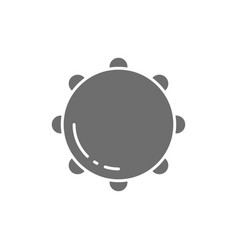 tambourine timbrel percussion musical vector image