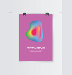 templates design for brochure annual report vector image