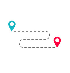 Travel location position or direction route with vector