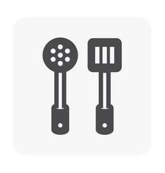 turner icon black vector image