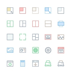 User Interface Colored Line Icons 29 vector image